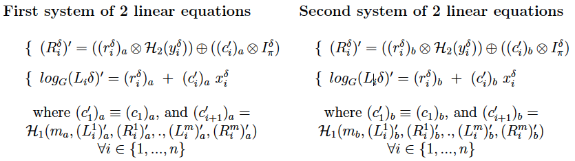 MLSAG Ring Signature System of equations 2